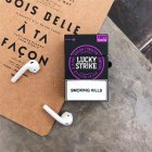 Earphone Case Cigarette Style Airpods Silicone Soft Shell Protective Cover Thick purple + hook