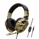 Earphone Gaming Headset Camouflage Headphones with Microphone for PC Laptop Camouflage Yellow PS4 Edition