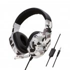 Earphone Gaming Headset Camouflage Headphones with Microphone for PC Laptop Camouflage Gray PS4 Edition