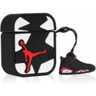 Earphone Protective Case for Airpods 1/2/3 Silicone Shell Storage Box Cartoon Gym Shoes Design Fashion Cover black_For Airpods 1 / 2