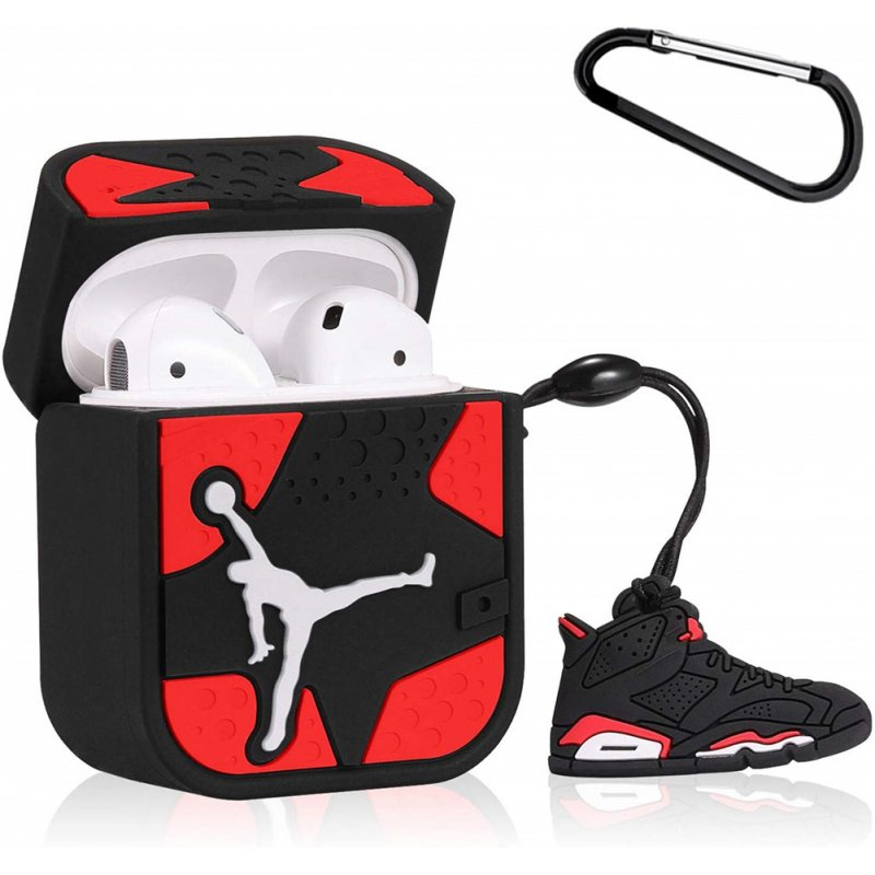 Earphone Protective Case for Airpods 1/2/3 Silicone Shell Storage Box Cartoon Gym Shoes Design Fashion Cover red_For Airpods 1 / 2