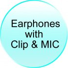 Earphones with Clip   MIC for CVLP M64 Gauntlet   Stainless Steel Quad Band Watchphone
