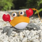 Education Crab Model Cartoon Summer Wash Toy Bathroom Playing Water Gifts Toy for Girls and Boys yellow