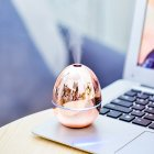 Egg Shape Air Humidifier Mini USB Car Aromatherapy Humidifier for Desktop Home Office Gold