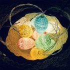 Eggs Shaped LED String Light Easter Decoration for Party Garland Ornament Battery Box 1.5M/3M 10LEDs/20LEDs  Colored Easter eggs_1.5m 10 lights-battery