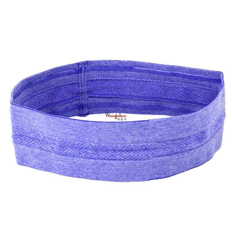 Elastic Absorbent Sweat Bands Yoga Running Fitness Headband Sports Stretch Hair Wrap Brace purple
