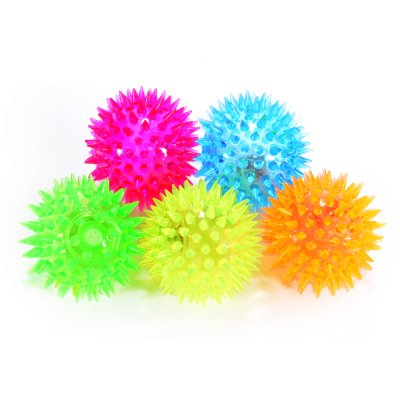 Elastic Spike Ball with LED flash light up