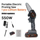 Electric  Chain  Saw 24 V Lithium Battery Portable Electric Pruning Saw Rechargeable Woodworking Mini Electric Saw BU plug