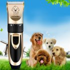 Electric Grooming Kit for Pet Dog Cat Hair Trimmer Shaver Quiet Clipper with 4pcs Comb Guide