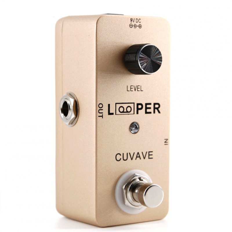Electric Guitar Monoblock Effect Looper Recording Guitar Effect Pedal Guitar Stompbox Gold