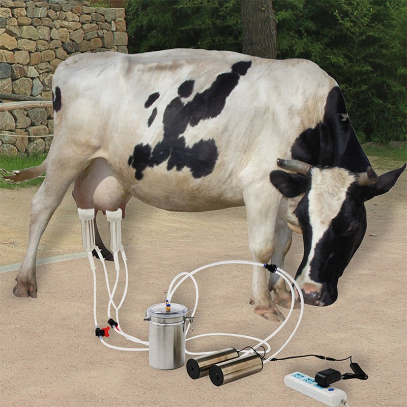 Electric Milking Machine Portable Breast Pump Cow Sheep Milking Eqipment  Cattle_British regulatory