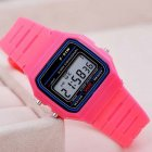 Electric Sport Watch LED Digital Waterproof Quartz Wrist Watch Gifts for Boys and Girls Rose red