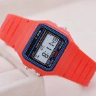 Electric Sport Watch LED Digital Waterproof Quartz Wrist Watch Gifts for Boys and Girls red