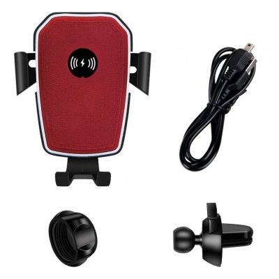 Qi Wireless Car Charger - Red