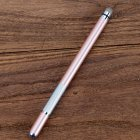 Electronic Dawing Pen Conductive Cloth + Sucker 2 in 1 Metal Capacitor Active Stylus Pen Rose gold