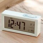 Electronic Digital Wall Clock With Temperature Display Home Clocks white