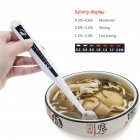 Electronic Food Salt Salinity Tester Spoon for Kitchen Supplies white