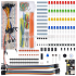 Electronics Component Basic Starter Kit with 830 Tie points Breadboard Cable Resistor Capacitor LED Potentiometer Box Packing 830 set