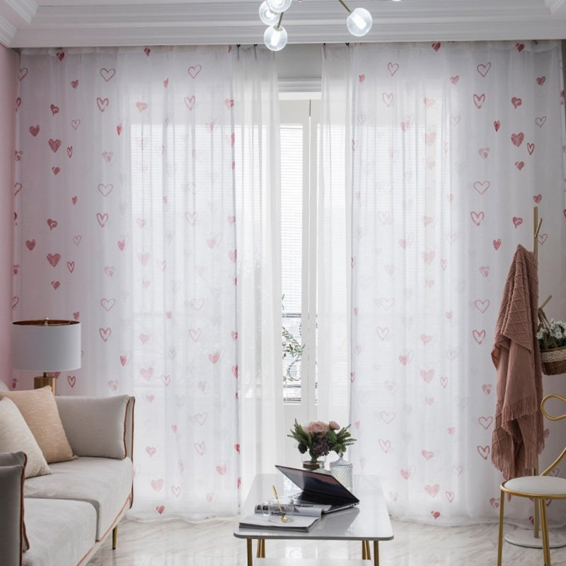 Elegant Curtains Window Gauze Screens for Bedroom Living Room Dining Room Bay Windows as shown_1 * 2.5m high hook