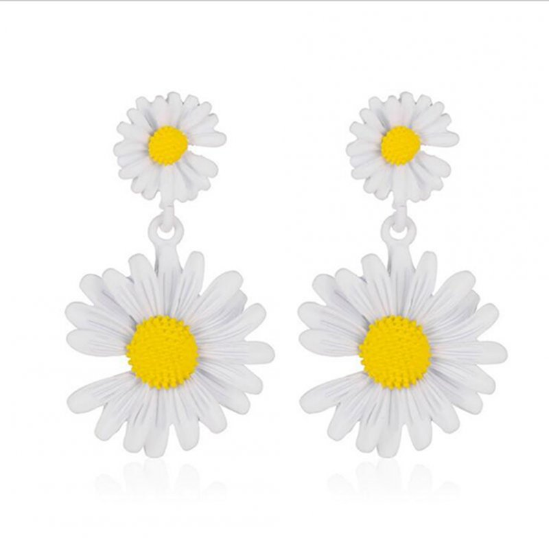 Elegant Daisy Earrings Cute Flower Earrings for Women Gift  05 white