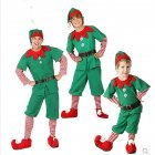 Elf Christmas Costume Halloween Cosplay Costume Children Performance Costume male_120cm