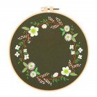 Embroidery  Kit With  Plants  Flowers  Pattern Embroidery  Hoops Needle Style 2