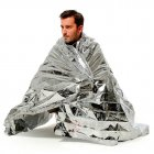 Emergent Blanket Lifesave Dry Outdoor First Aid Survive Camp Space Foil 130*210 Silver_130x210cm