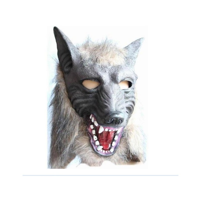 Emorefun Toys Halloween Funny Mask,Super Adorable Wolf Head Mask Latex Animal CostumeHalloween Party Costume Decorations Toys
