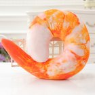 Emulational U Shape Sleep Pillow Cute Shape Neck Pillow for Travel Home Decoration Shrimp