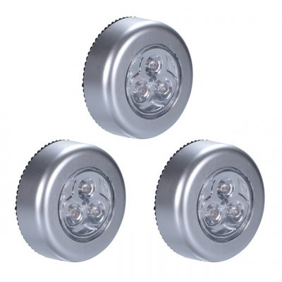 LED Touch Control Round Cabinet Light -6Pcs