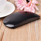 Ergonomic USB Wireless Slim Mouse Touch Stripe Scroll 2 4G 1200 DPI Optical Mini Mouse for Laptop Desktop PC  black