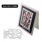 Etched Carbon Steel Cutting Die for DIY Scrapbook Chain/Irregular Background Decoration 1805519