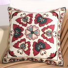 Ethnic Style Embroidery Pattern Car Sofa Throw Pillow Cover C Butterfly - Red_45*45cm individual pillowcase
