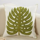Ethnic Style Embroidery Pattern Car Sofa Throw Pillow Cover C Bodhi Leaf_45*45cm individual pillowcase