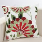 Ethnic Style Embroidery Pattern Car Sofa Throw Pillow Cover C is unique (green)_45*45cm individual pillowcase