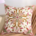 Ethnic Style Embroidery Pattern Car Sofa Throw Pillow Cover C lover grass - pink_45*45cm individual pillowcase