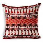 Ethnic Style Patern Printing Linen Pillow Cover Home Car Sofa Decor E_45X45cm