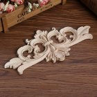 European Style Wood Carved Corner Applique Unpainted Furniture Decoration 22 * 10cm