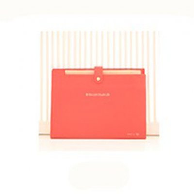 Expandable Documents File Folder Organizer 8-Pocket Folders A4 Size Snap Button Closure  watermelon red