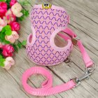 Exquisite Dog Chest Leash Traction Belt Pet Harness Straps for Small Dogs Cats (L) Pink_L- Bust 32cm-48cm