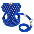 Exquisite Dog Chest Leash Traction Belt Pet Harness Straps for Small Dogs Cats (L) blue_L- Bust 32cm-48cm