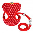 Exquisite Dog Chest Leash Traction Belt Pet Harness Straps for Small Dogs Cats (L) red_L- Bust 32cm-48cm