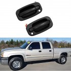 Exterior Door Handle Front Left Right with Key Hole for 99-06 Chevy Silverado GMC OE:15034985, 15034986  Left and right