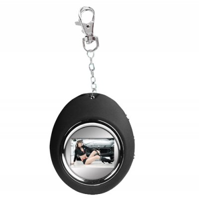 Black Digital Photo Frame Keychain with 1.1 Inch Screen