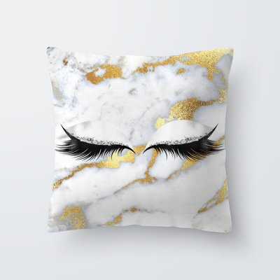 Eyelash Pattern Throw Pillow Cover for Living Room Sofa Sleeping Waist Support 14#_45*45cm
