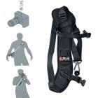 F-1 Holder Quick Camera DSLR SLR Single Shoulder Sling black
