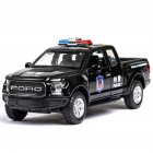 F150 Simulation 1:32 Open Door with Sound Light Off-Road Alloy Police Car Model Toys  black