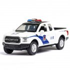 F150 Simulation 1:32 Open Door with Sound Light Off-Road Alloy Police Car Model Toys  white