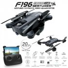 F196 Foldable Drone with 2MP HD Camera Optical Flow Dron Gesture Control 20mins Flight Time RC Quadcopter  Left hand throttle