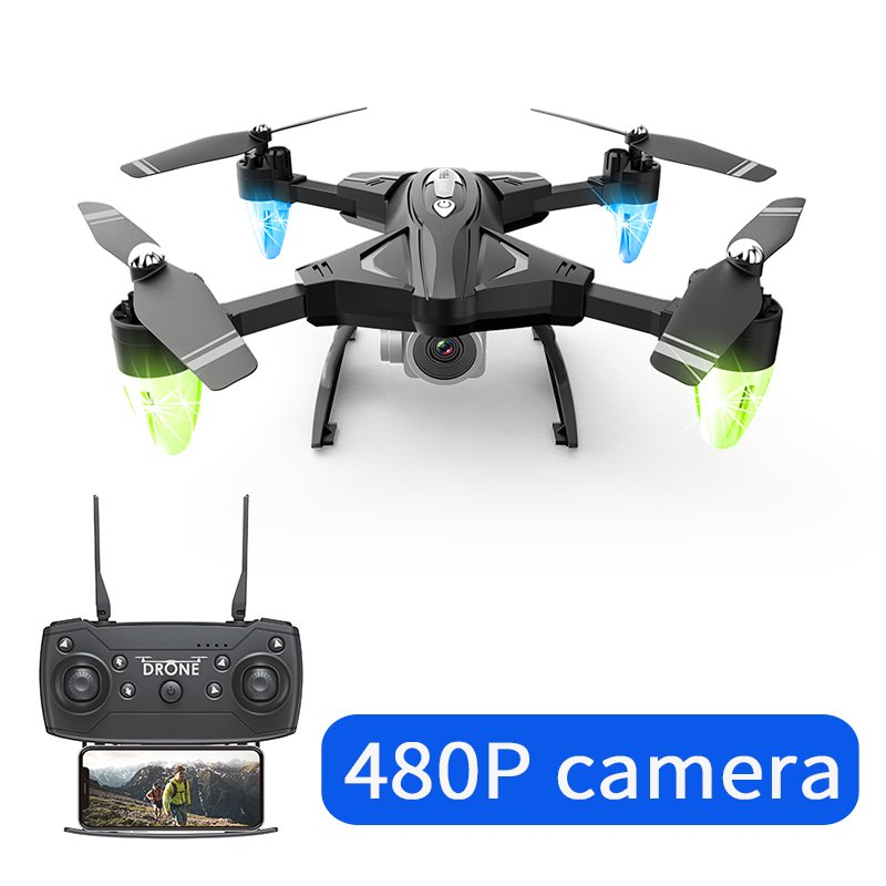 F69 WIFI FPV Camera High Hold Mode Foldable Flight Time 18 Minutes RC Drone 480P